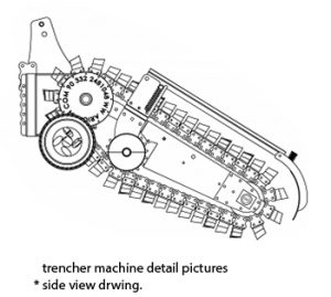 trenching machines Trenching Machines trencher machine side view 300x269